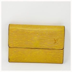 Authentic Louis Vuitton Epi Trifold Wallet